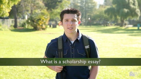 What is a scholarship essay?