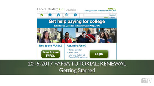 Getting Started: 16-17 FAFSA Tutorial