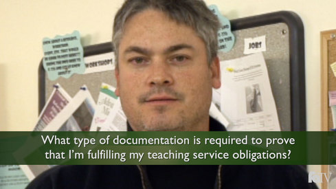 What type of documentation is required to prove that I'm fulfilling my teaching service obligations?