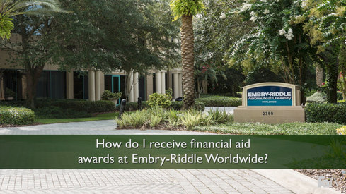 How do I receive financial aid awards at Embry-Riddle Worldwide?