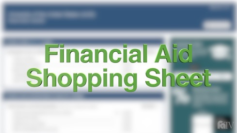 What is the Financial Aid Shopping Sheet?
