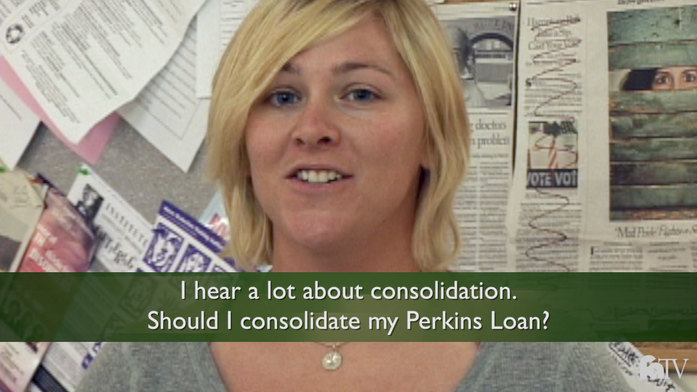 Consolidating my perkins loan