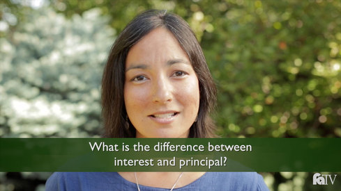 What is the difference between interest and principal?