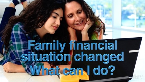My family's financial situation is different than the income information I reported on my FAFSA. What can I do?
