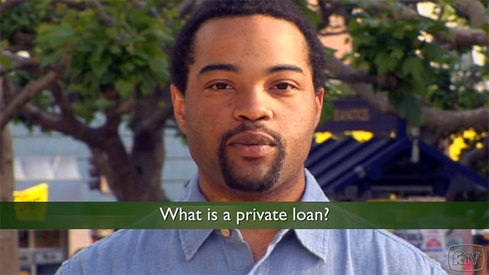 What is a private loan?