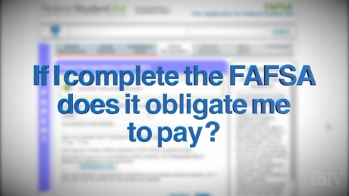 If I provide my information on the FAFSA, does this obligate me to pay for my child's education?