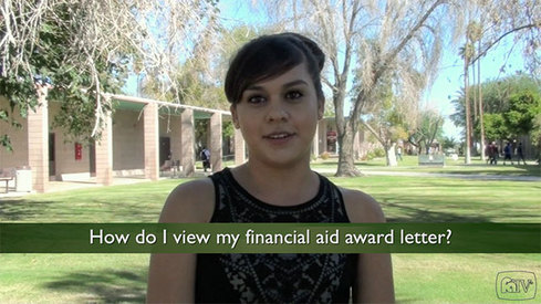 How do I view my financial aid award letter?