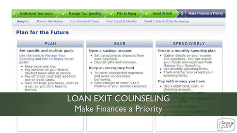 Loan Exit Counseling – Make Finances a Priority