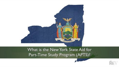 What is the New York State Aid for Part-Time Study Program (APTS)?