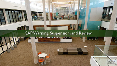 SAP Warning, Suspension, and Review