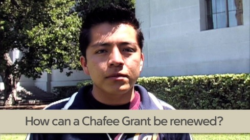 How can a Chafee Grant be renewed?