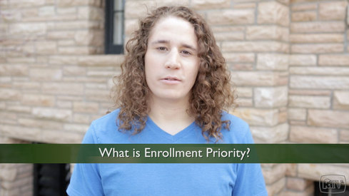 What is Enrollment Priority?