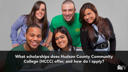 What Scholarships does Hudson County Community College (HCCC) offer and how do I apply?