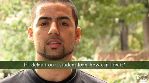 If I default on a student loan, how can I fix it?