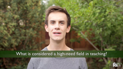 What is considered a high-need field in teaching?