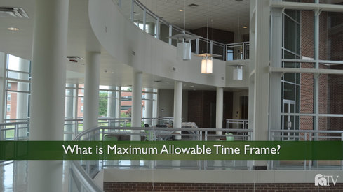 What is Maximum Allowable Time Frame?