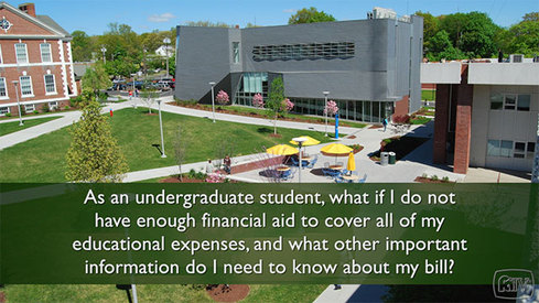As an undergraduate student, what if I do not have enough financial aid to cover all of my educational expenses and what other important information do I need to know about my bill?