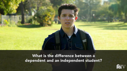 What is the difference between a dependent and an independent student?
