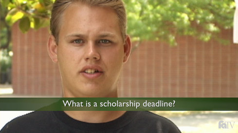 What is a scholarship deadline?