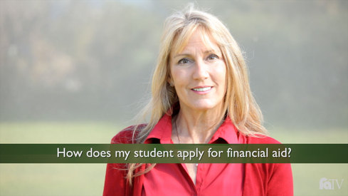 How does my student apply for financial aid?