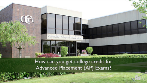 How can you get college credit for Advanced Placement (AP) Exams?