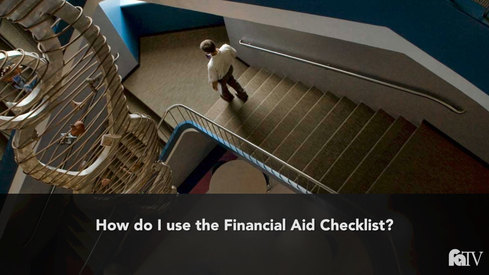 How do I use the financial aid checklist?