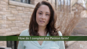 Thumbnail of How do I complete the Petition form?