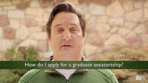 How do I apply for a graduate assistantship?