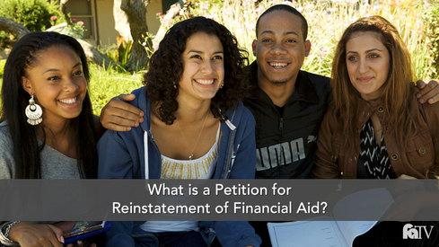 What is a Petition for Reinstatement of Financial Aid?