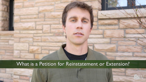 What is a Petition for Reinstatement or Extension?