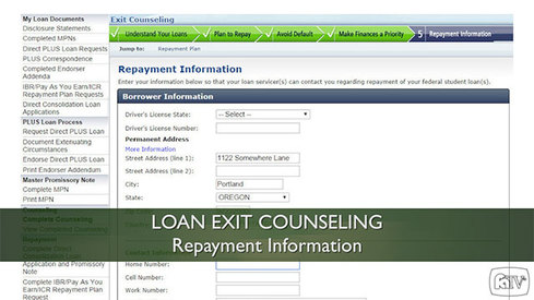 Loan Exit Counseling – Repayment Information