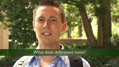 What does deferment mean?