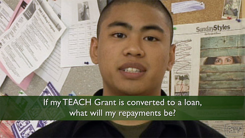 If my TEACH Grant is converted into a loan, what will my monthly payments be?