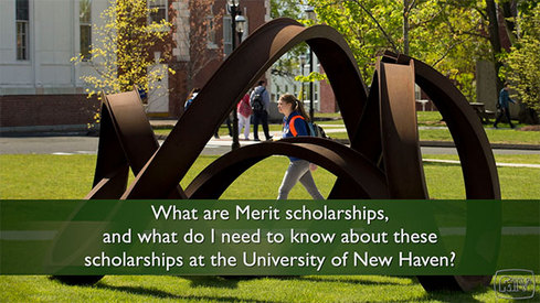 What are Merit scholarships and what do I need to know about these scholarships at the University of New Haven?