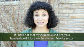 Thumbnail of If I have not met my Academic and Progress Standards, will I lose my Enrollment Priority status?
