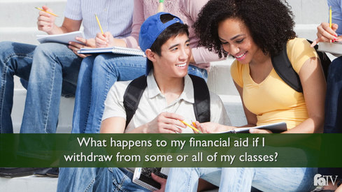 What happens to my financial aid if I withdraw from some or all of my classes?