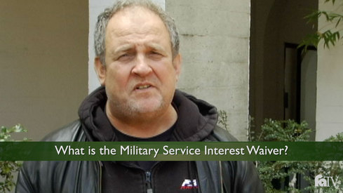 What is the Military Service Interest Waiver?