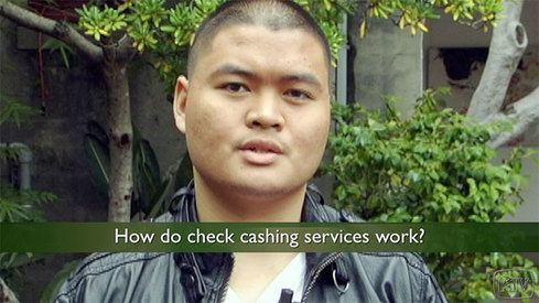 How do check cashing services work?