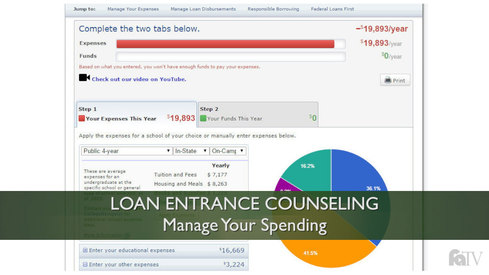 Loan Entrance Counseling - Manage Your Spending