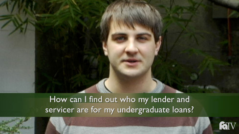 How can I find out who my lender and servicer are for my undergraduate loans?