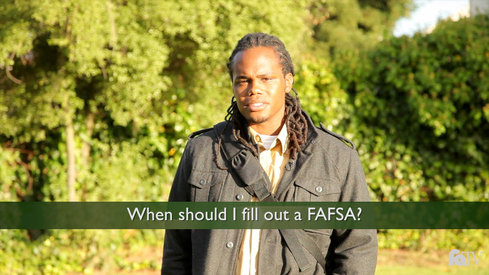 When should I fill out a FAFSA?