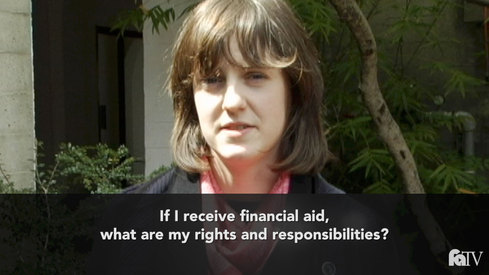 If I receive financial aid, what are my rights and responsibilities?