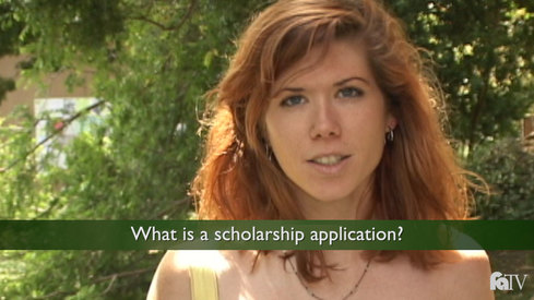What is a scholarship application?