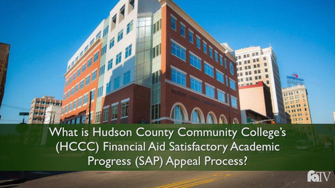 What is Hudson County Community College's (HCCC) Financial Aid Satisfactory Academic Progress (SAP) Appeal Process?