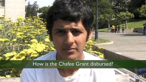 How is the Chafee Grant disbursed?