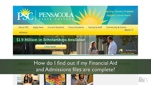 How do I find out if my Financial Aid and Admissions Files are complete?