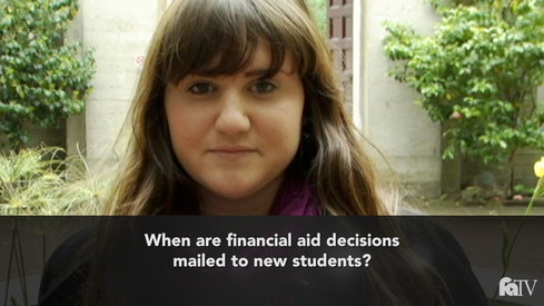 When are financial aid decisions mailed to new students?