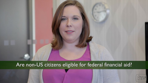 Are non-US citizens eligible for federal financial aid?