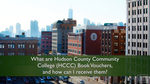 What are Hudson County Community College (HCCC) Book Vouchers and how can I receive them?
