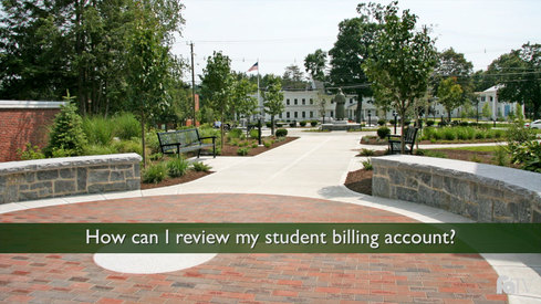 How can I review my student billing account?